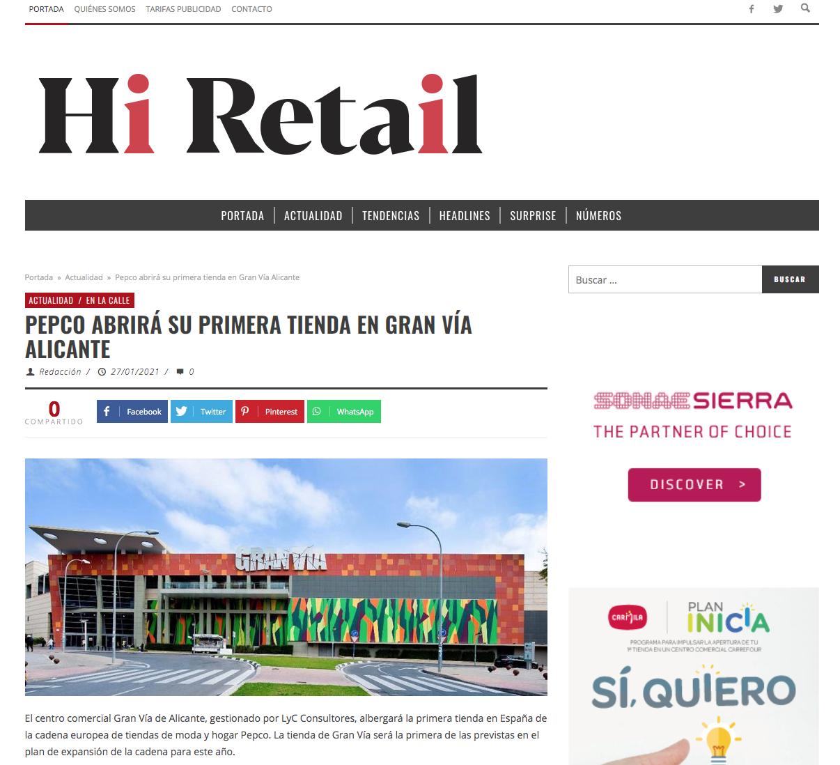 PEPCO abrirá su primera tienda en C.C. Gran Vía Alicante