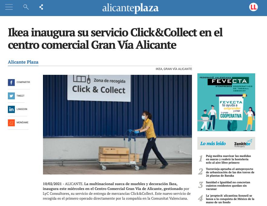 Ikea inaugura su servicio Click&Collect en el centro comercial Gran Vía Alicante