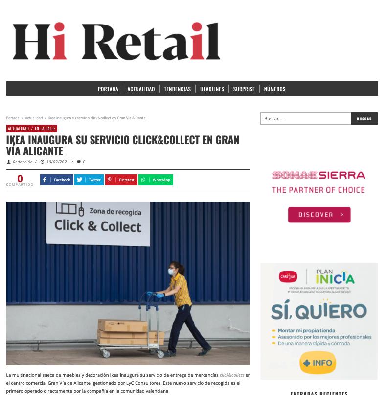Ikea inaugura su servicio click&collect en Gran Vía Alicante