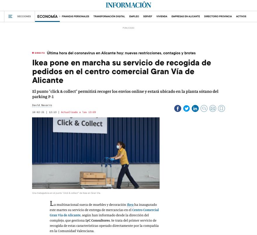 El Click&Collect de Ikea, llega al centro comercial Gran Vía Alicante