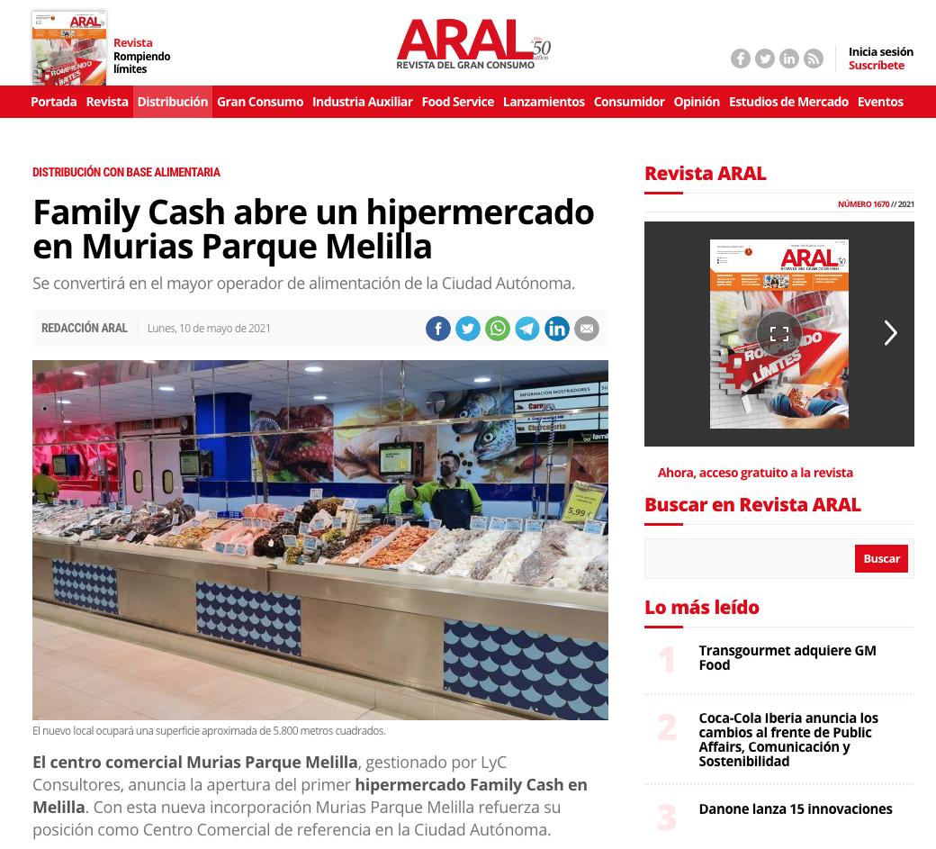 Family Cash abre un hipermercado en Murias Parque Melilla