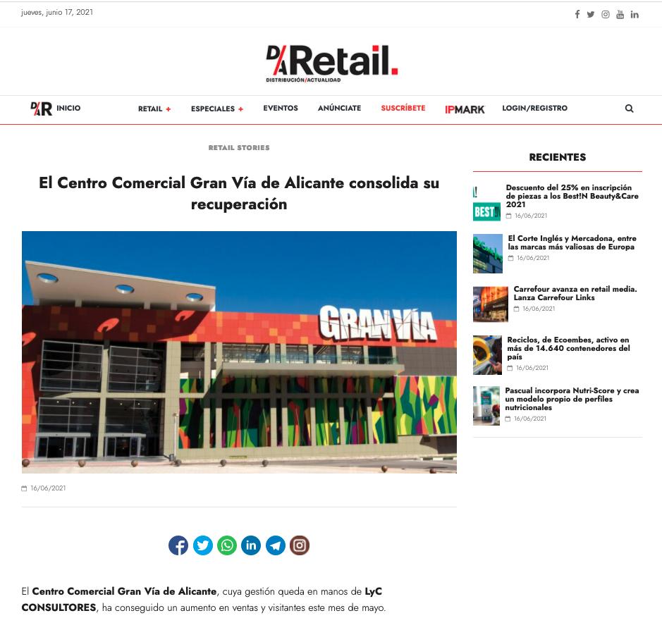 El Centro Comercial Gran Vía de Alicante consolida su recuperación