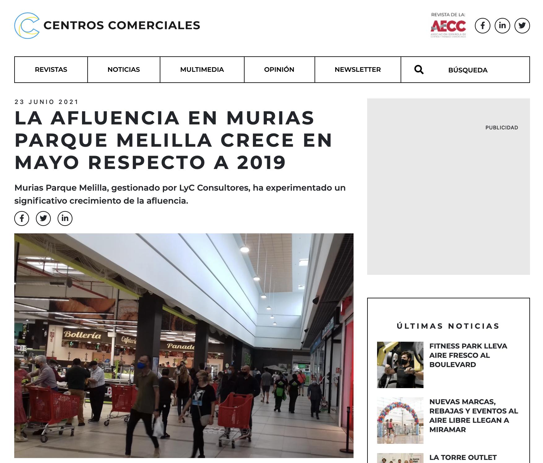 La afluencia en Murias Parque Melilla crece en mayo respecto a 2019