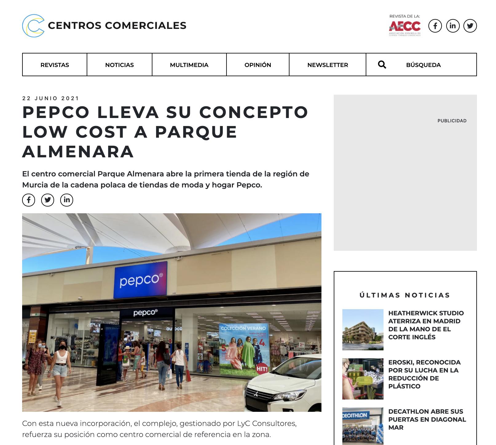 Pepco lleva su concepto low cost a Parque Almenara