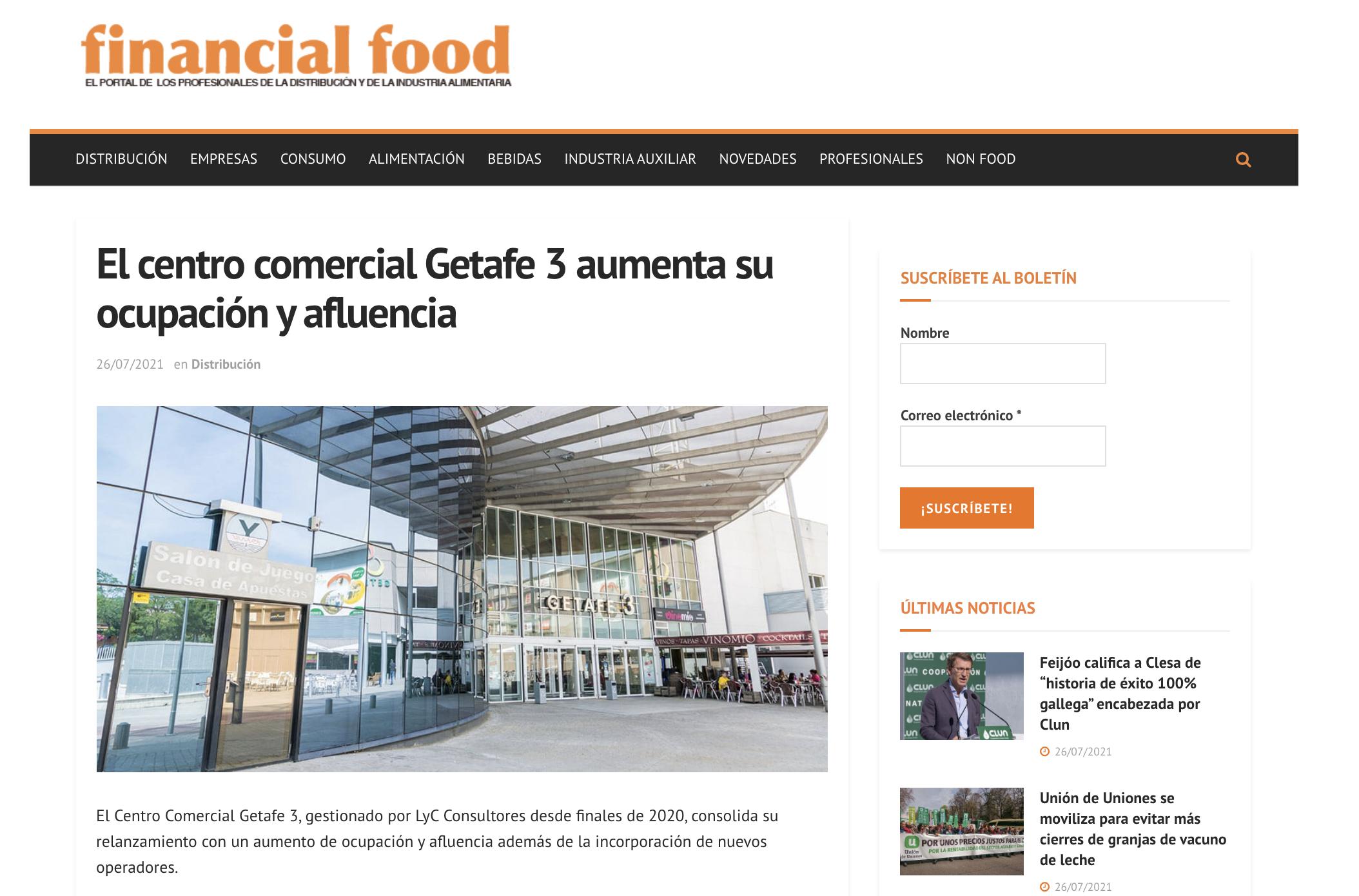 El centro comercial Getafe 3 aumenta su ocupación y afluencia
